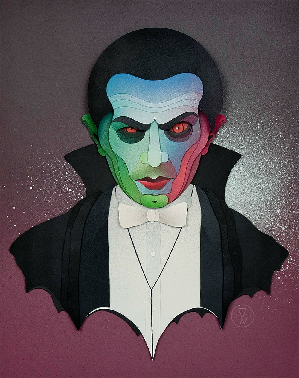 dracula paper cut out eelus