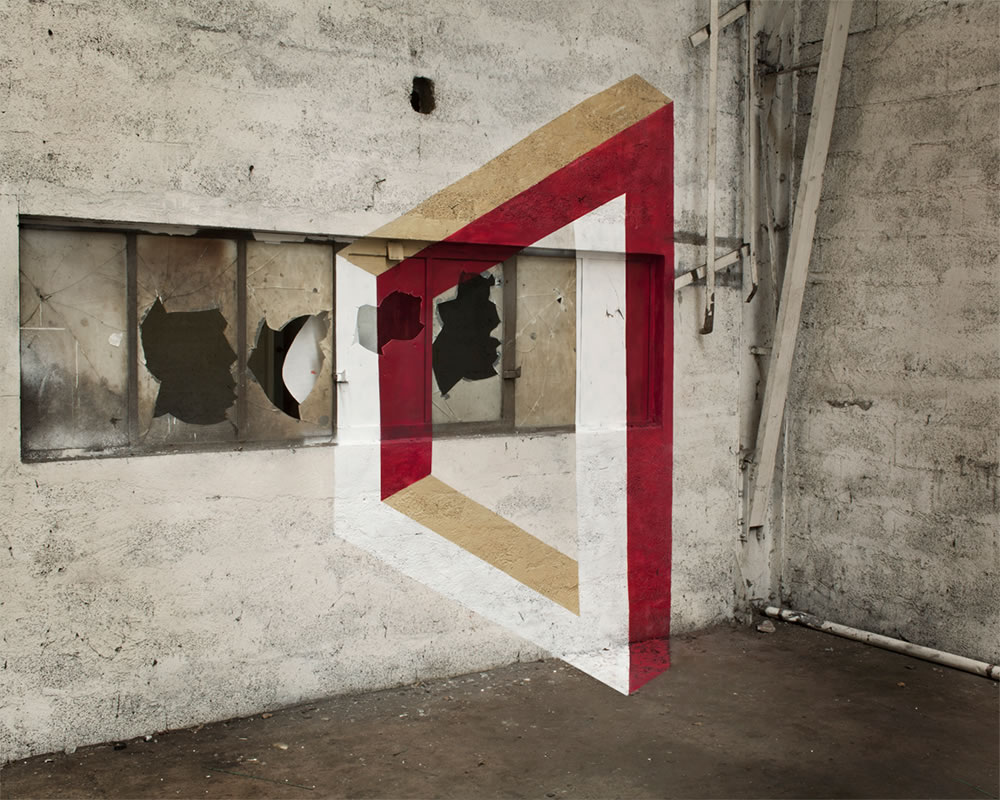 Anamorphic geometric art by Fanette G 2
