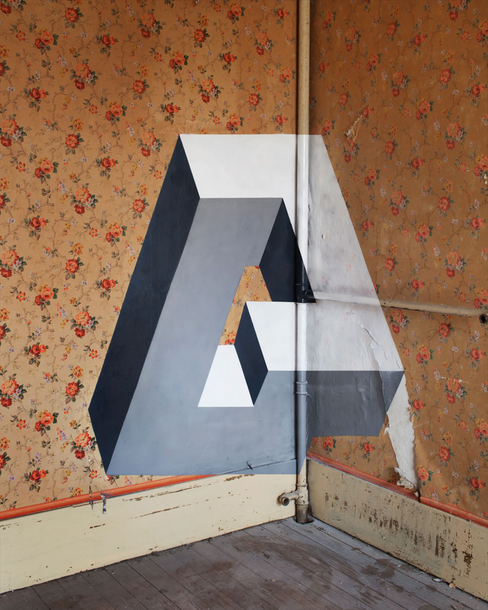 Anamorphic geometric art by Fanette G 5