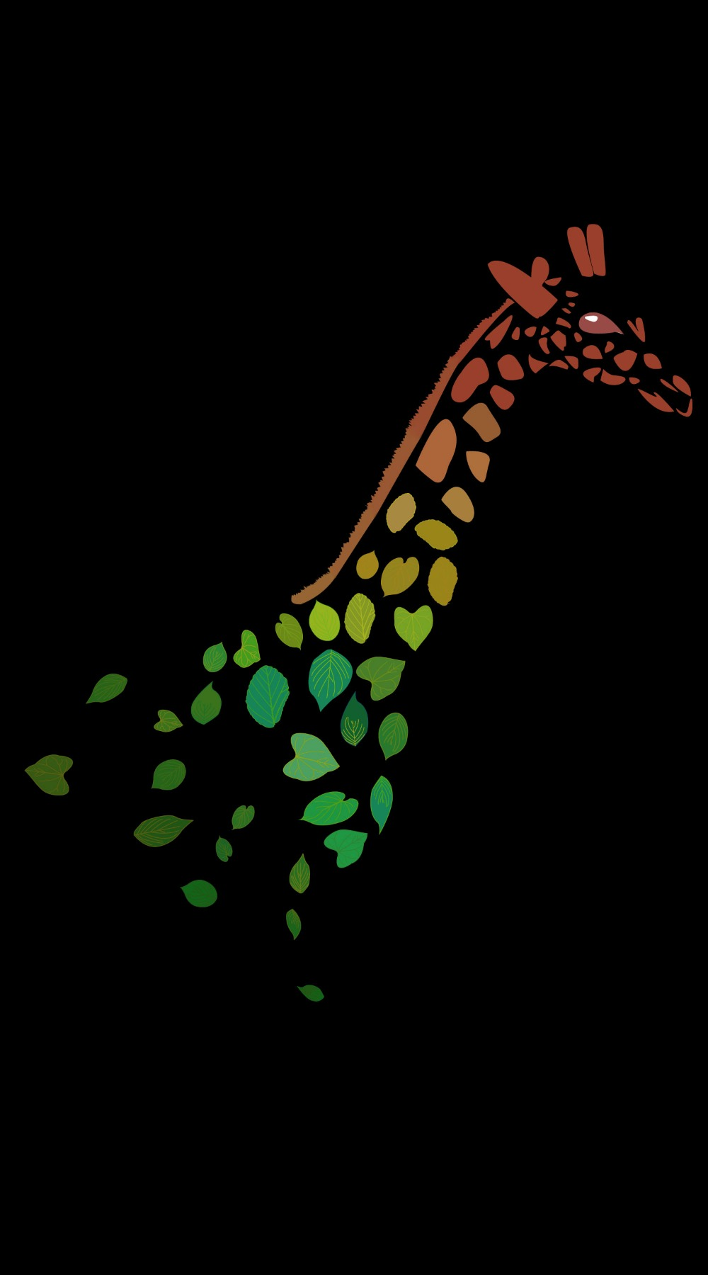 giraffe leaves by tang yau hoong