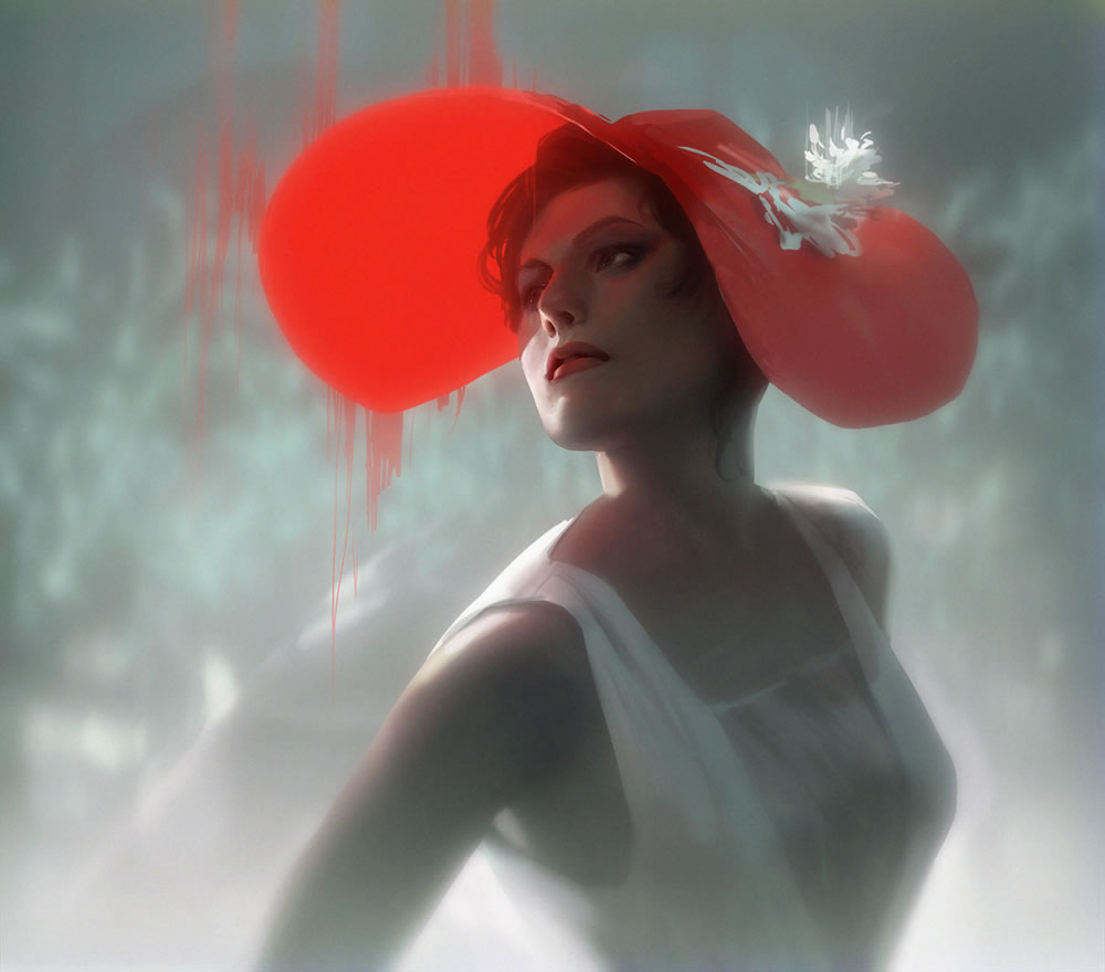 red hat woman by jana schirmer