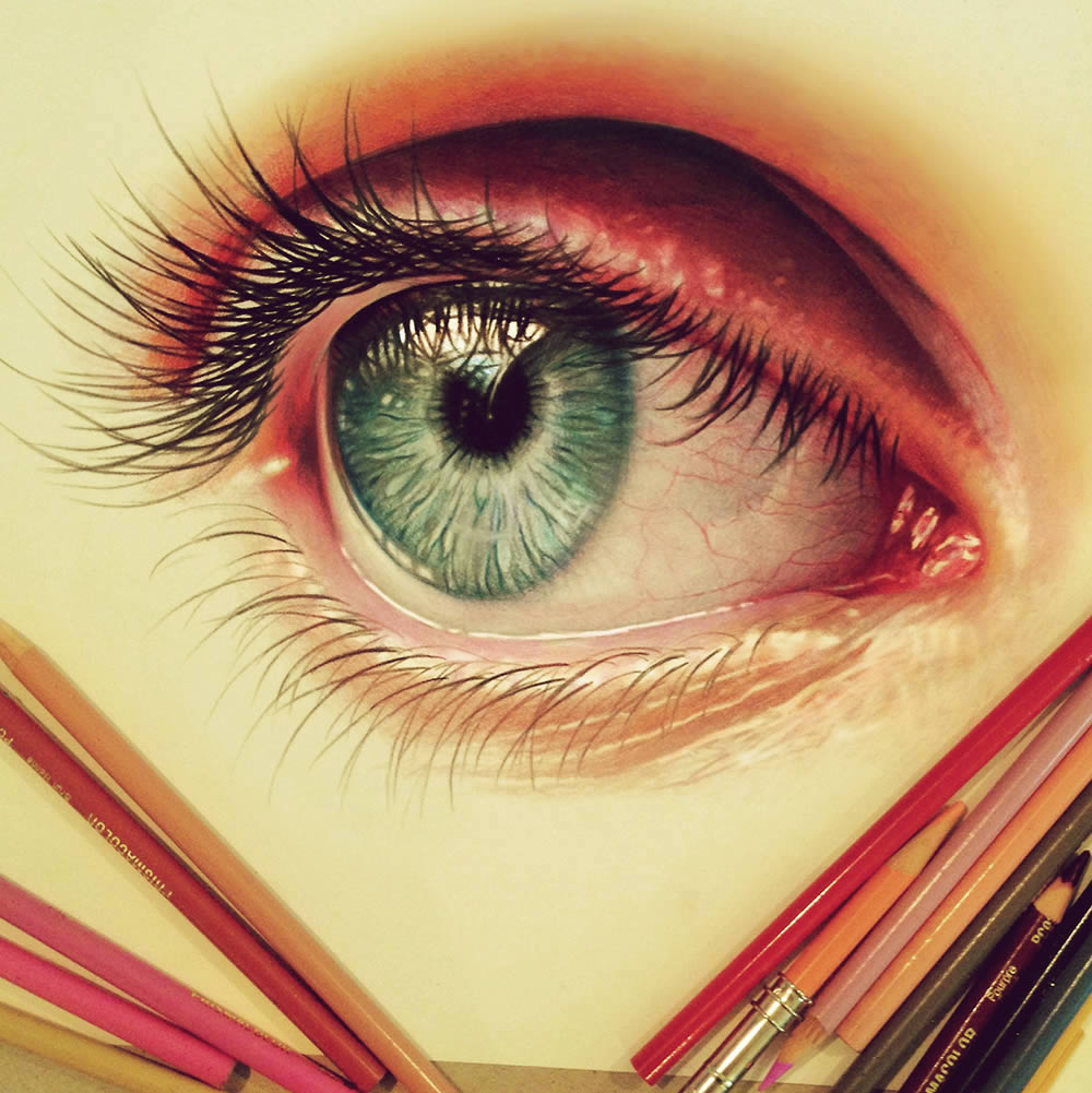 realistic eye by morgan davidson