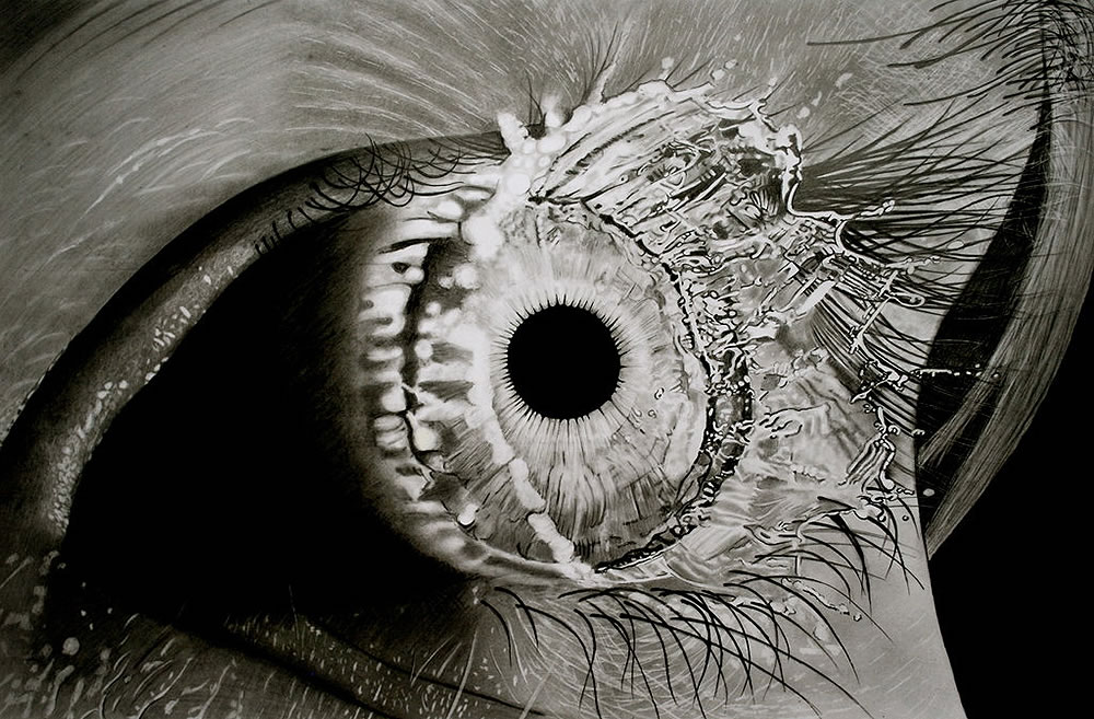 eye drawing by Paul shanghai