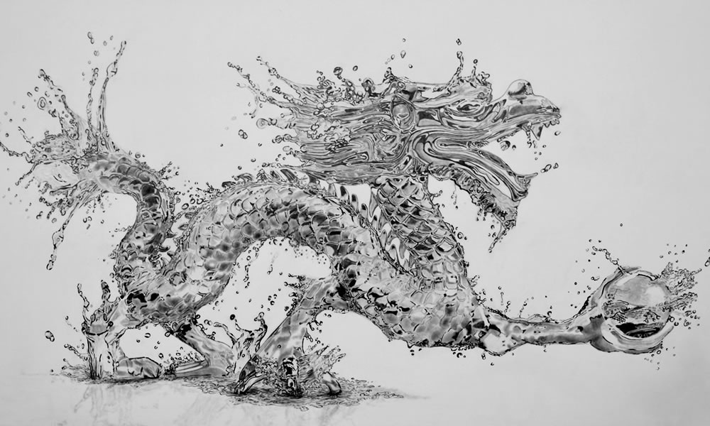 liquid water dragon  by Paul shanghai