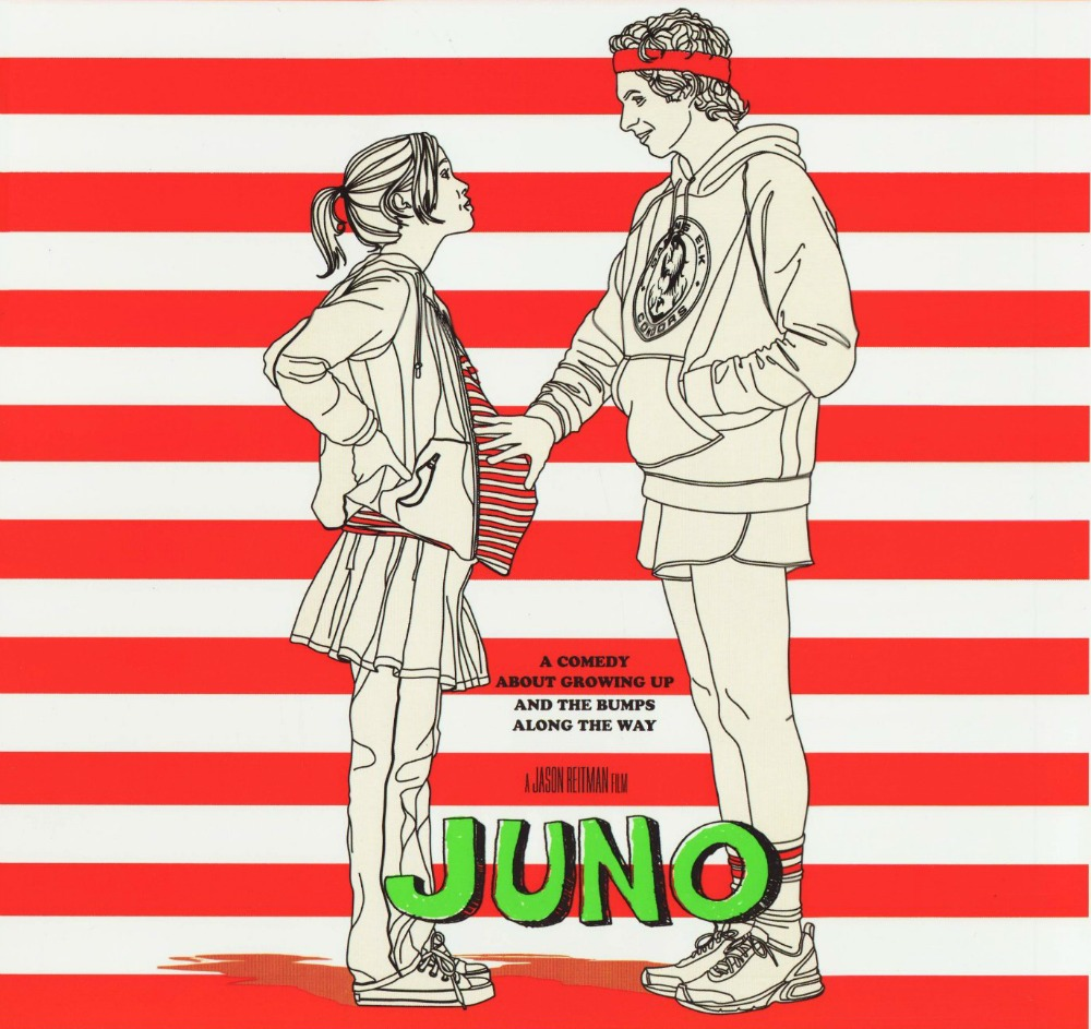 Orange striped Juno Movie Poster