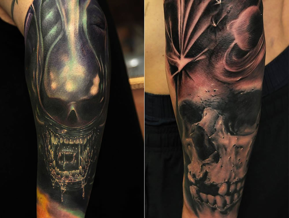 goth skull metal and skull tattoos by Andy Engel
