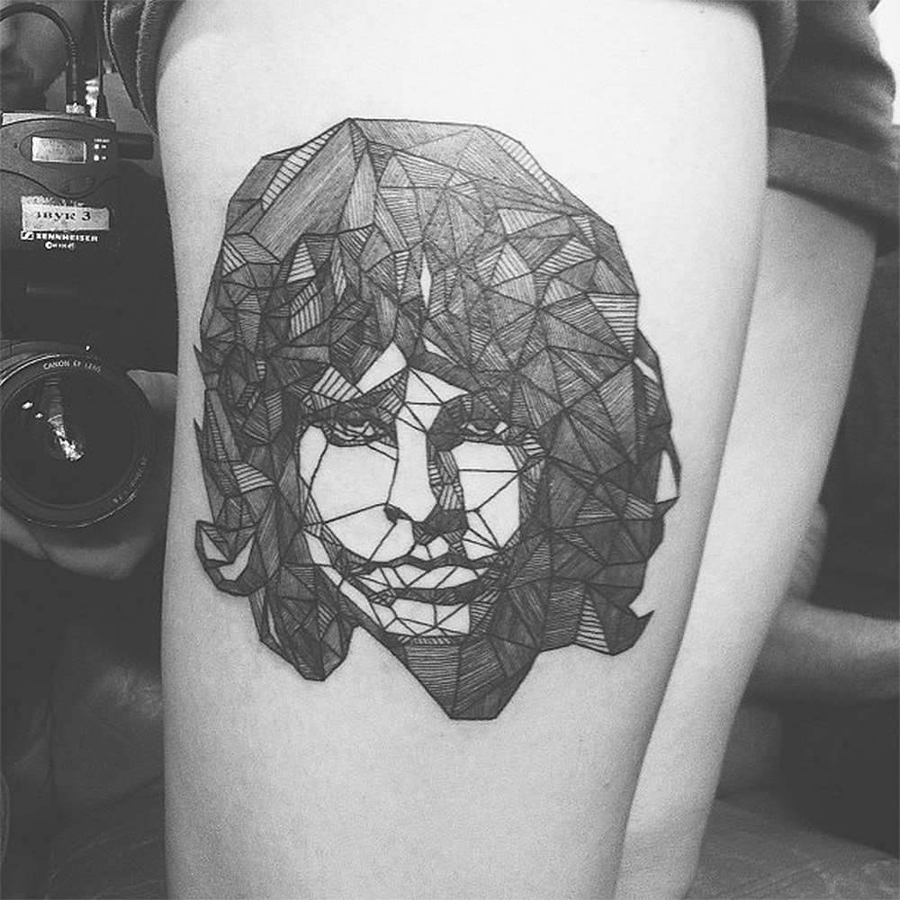 jim morrison tattoo by Diana Katsko