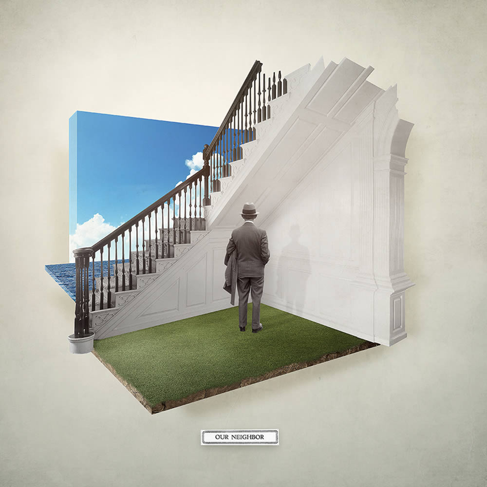man with ladder by joseba elorza