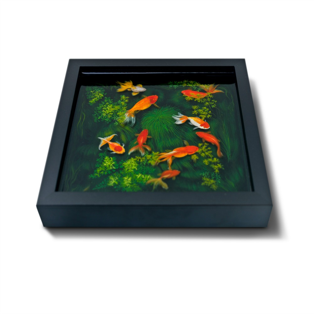 keng lye 3d painting fish