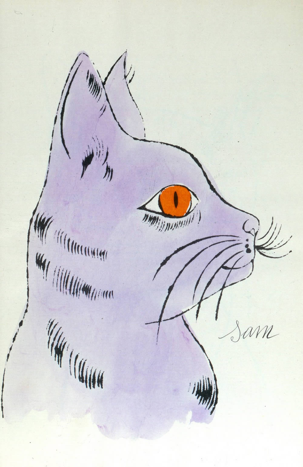 warhol blotted line, 25 Cats Name Sam