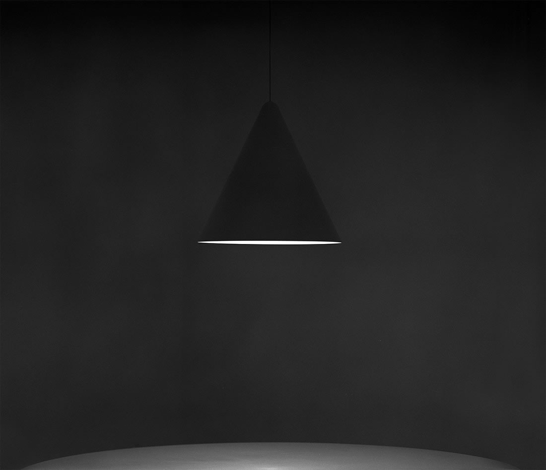 Black photo ceiling lamp by alan craigie