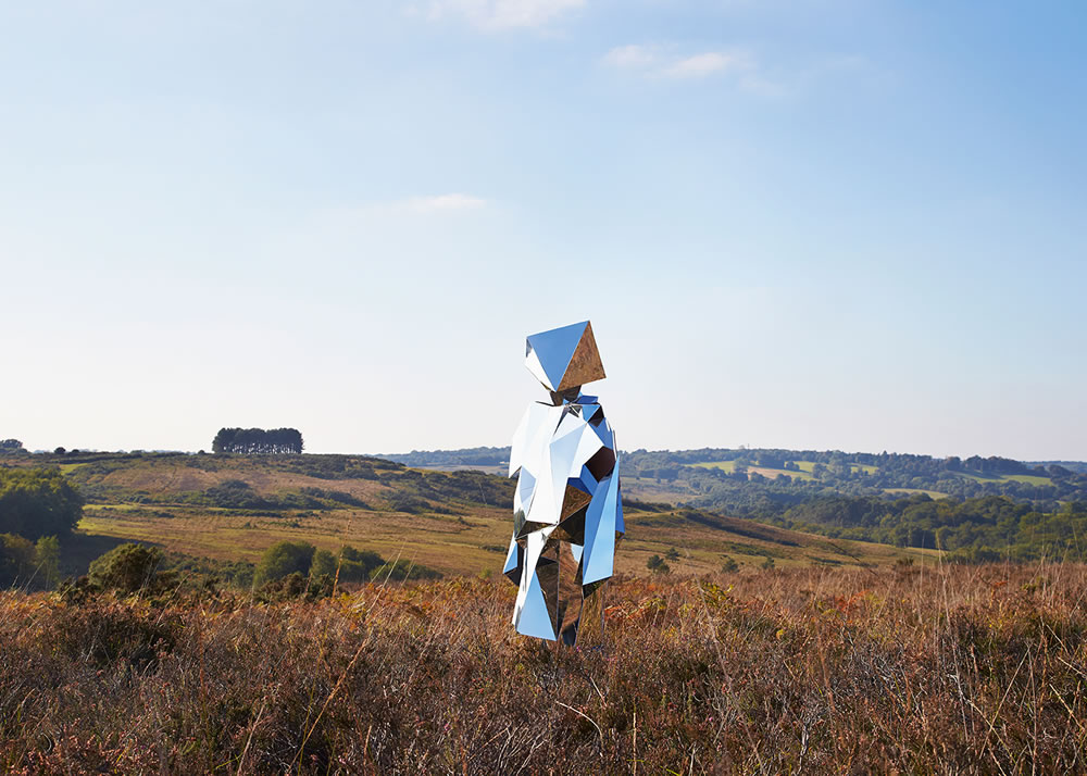 A Mirror Sculpture in the Landscapes