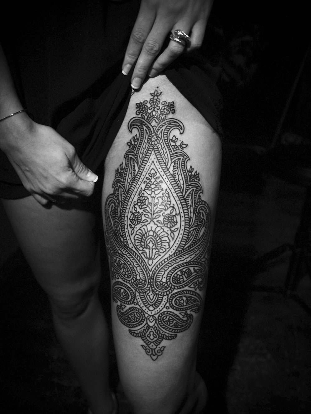 indian tattoo pattern by Guy Le Tatooer