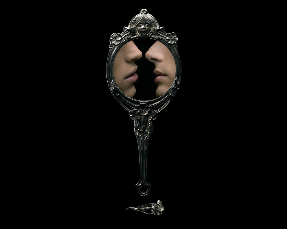 mirror with two women by marc da cuhna lopes