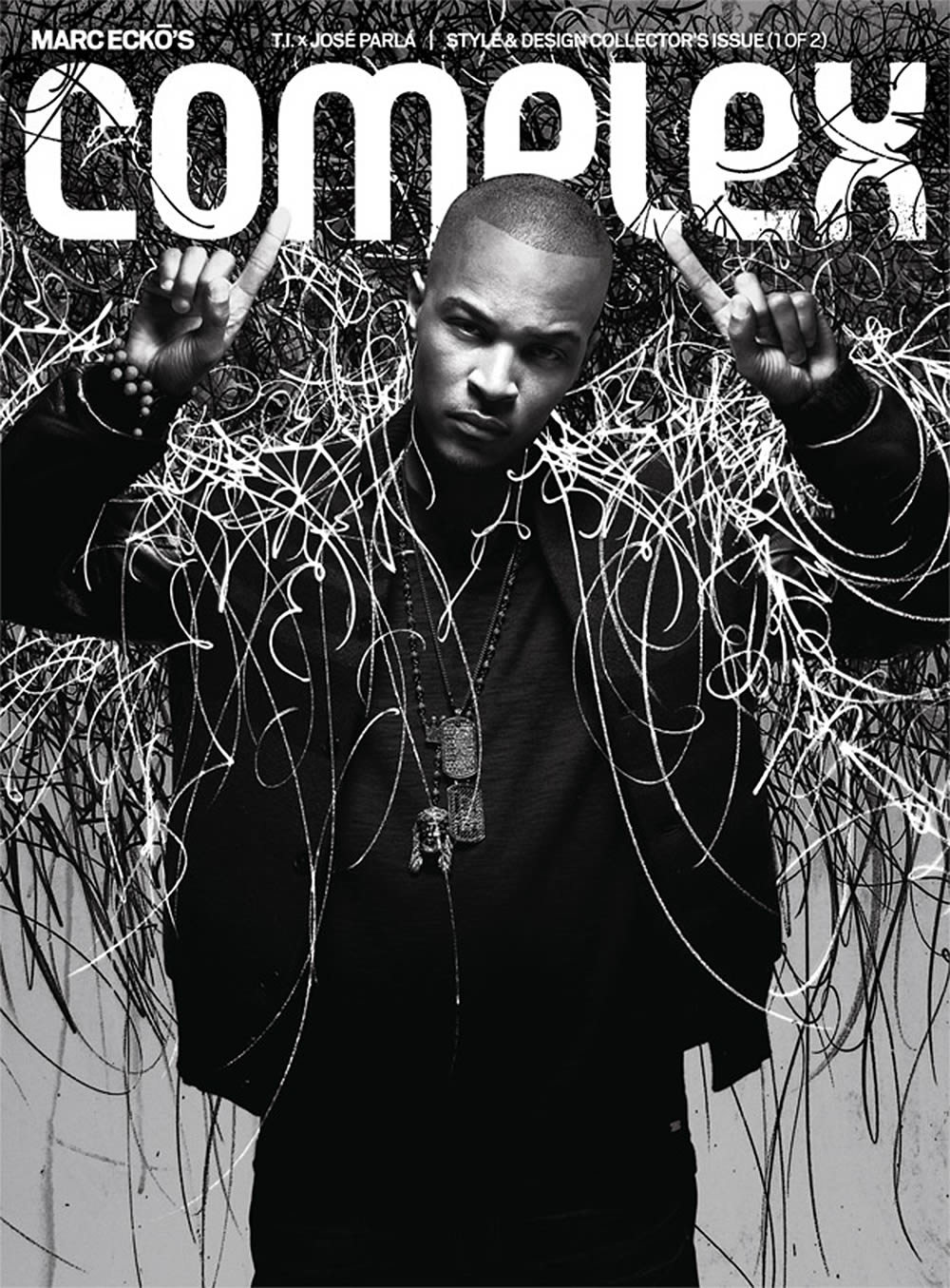 Complex magazine cover with T.I. rapper, art cover design by Jose Parla