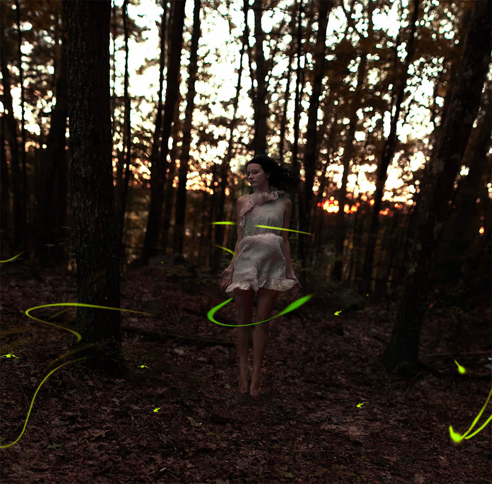 light painting in woods, photo by sarah loreth 3