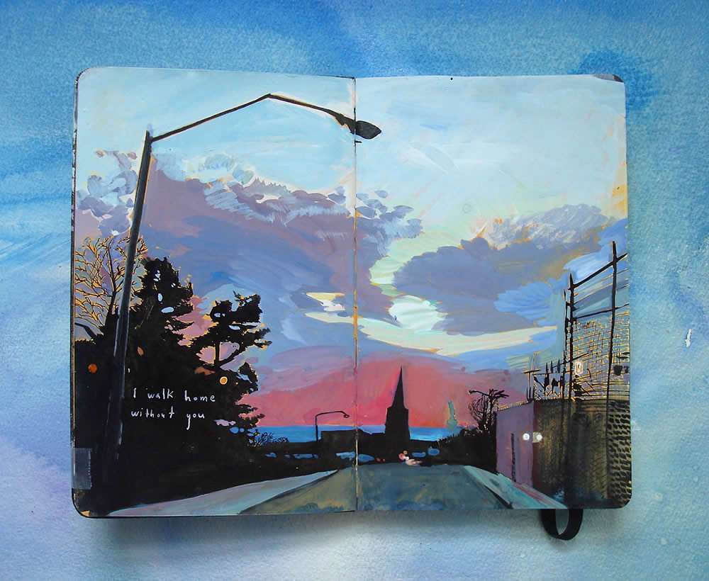 Cityscape Moleskine Paintings
