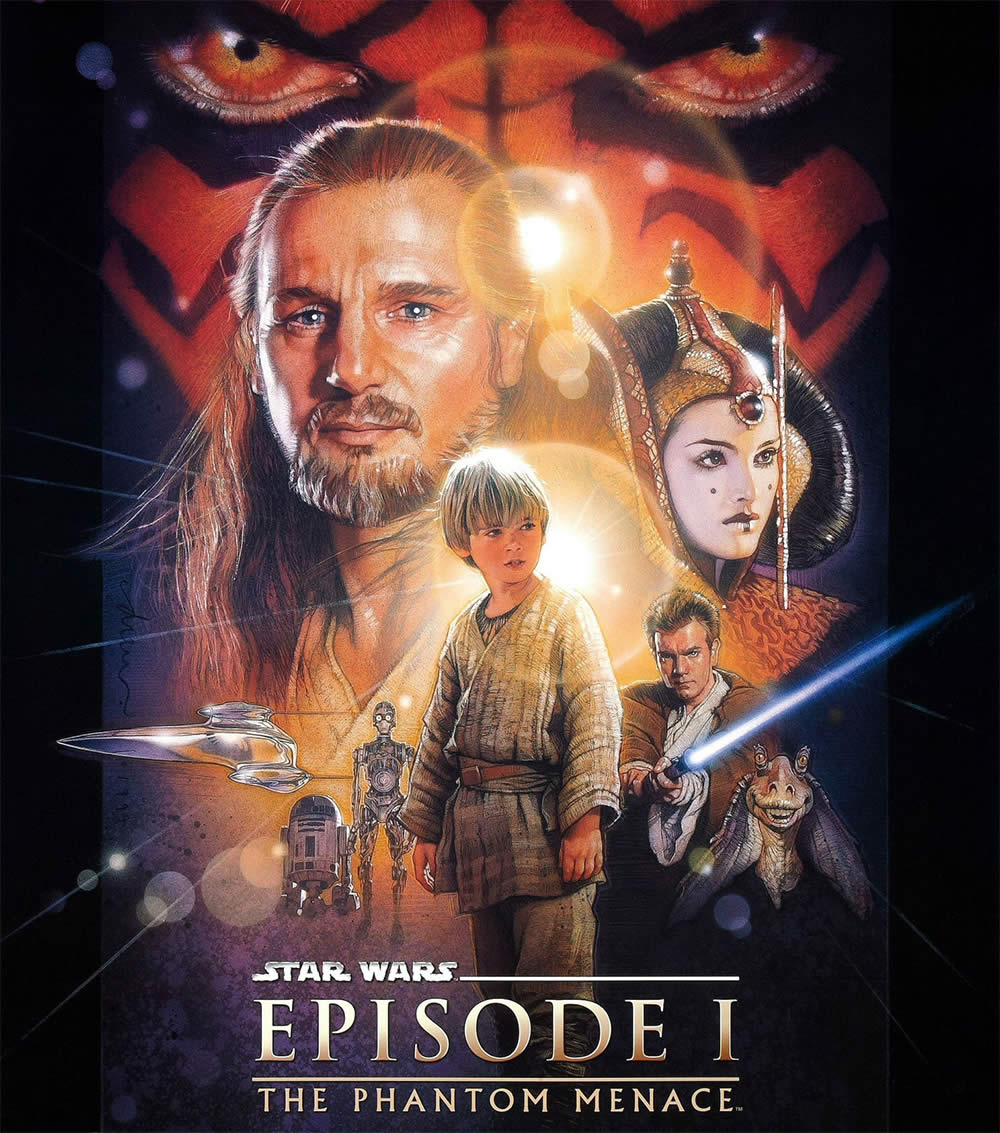 "Film poster of ""Star Wars: Episode I – The Phantom Menace"" (1999). Image © Lucasfilm LTD.."