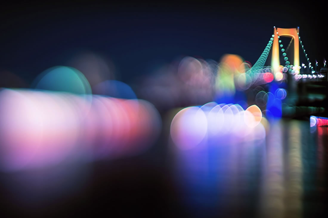 rainbow bridge nightlife tokyo photography, photography by Takashi Kitajima