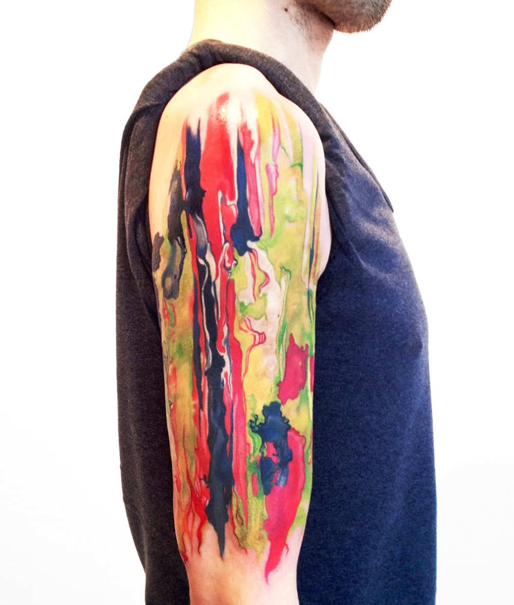 Tattoos Inspired by Painting Techniques