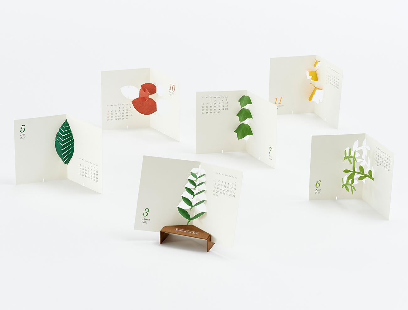 "Calendar 2014 ""botanical Life"" Calendar by Katsumi Tamura full shot"