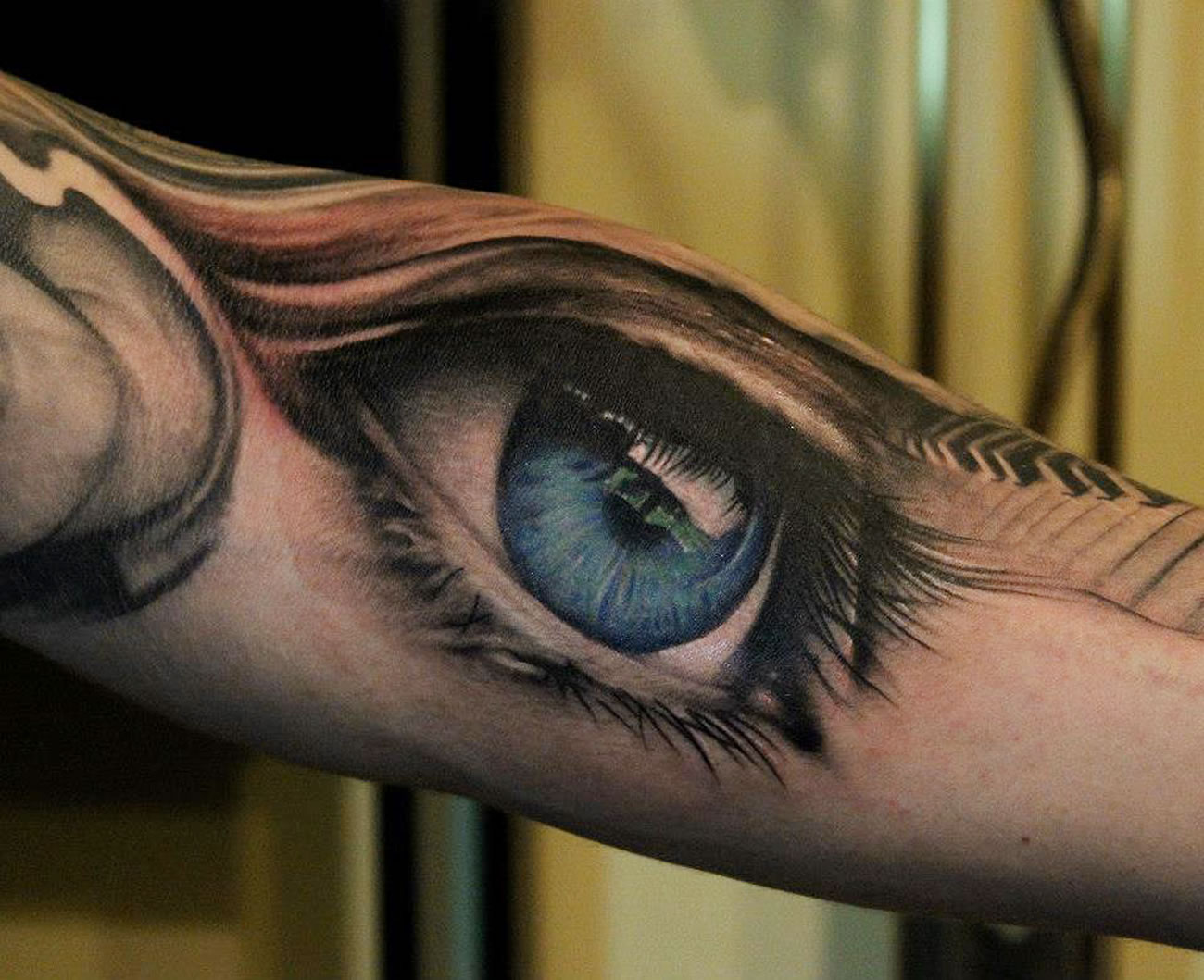 blue eye tattoo by Bacanu Bogdan