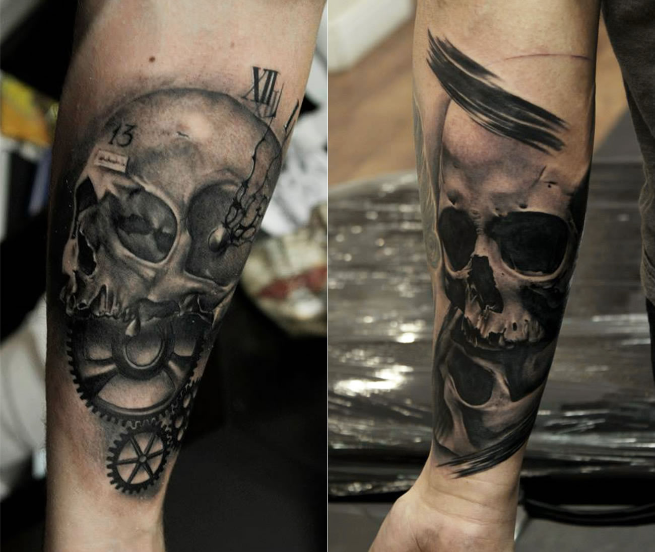 skull tattoos by Bacanu Bogdan
