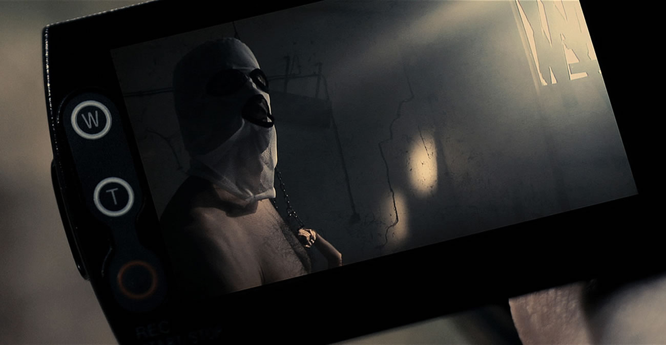 A serbian film, man with hooded mask