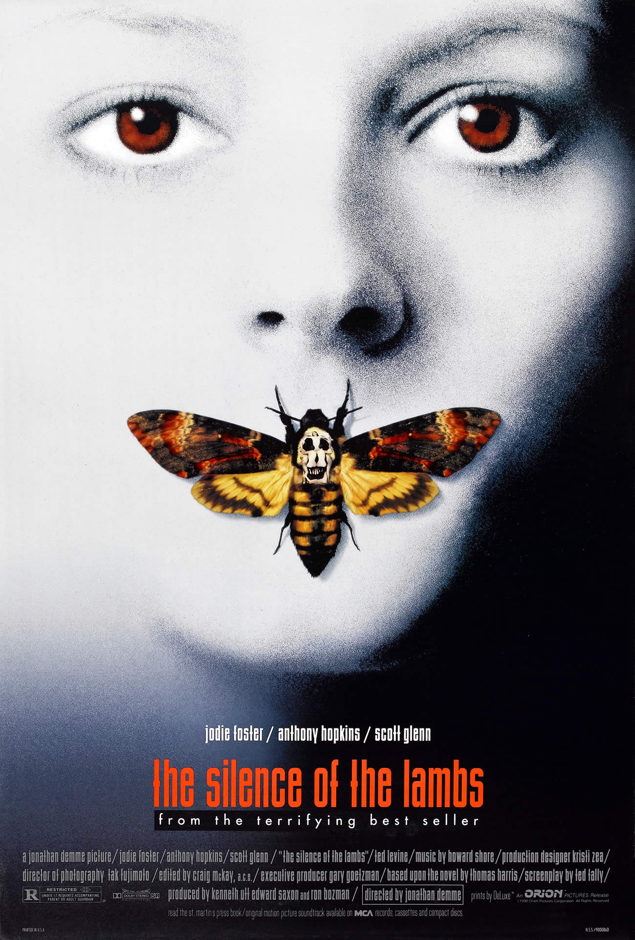 silence of the lambs, dali skull, jodie foster