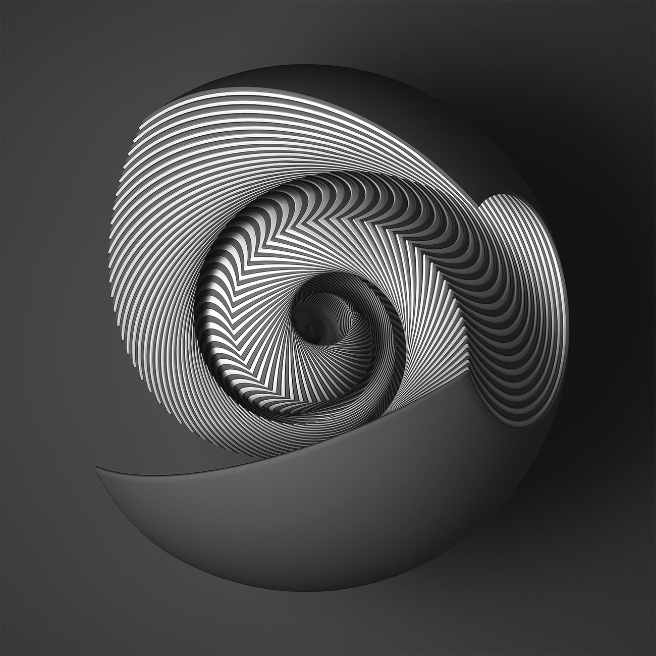 3-D sculptures shell design