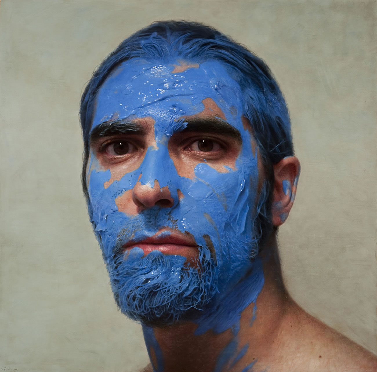 blue self-portrait byEloy Morales