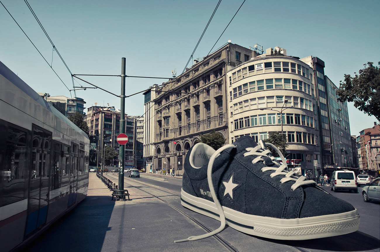 onverse shoe in city by Emre Gologlu