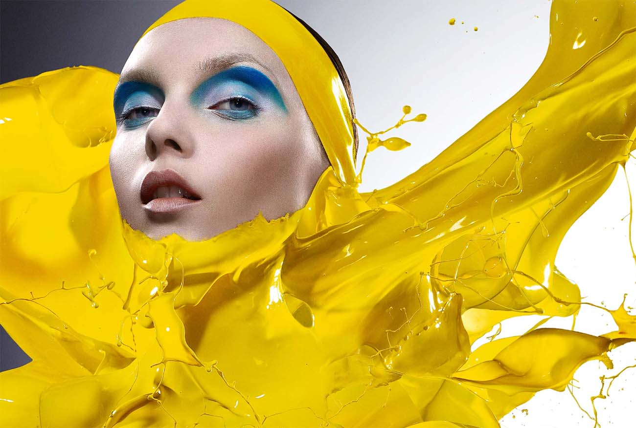 iaian crawford beauty photography yellow paint