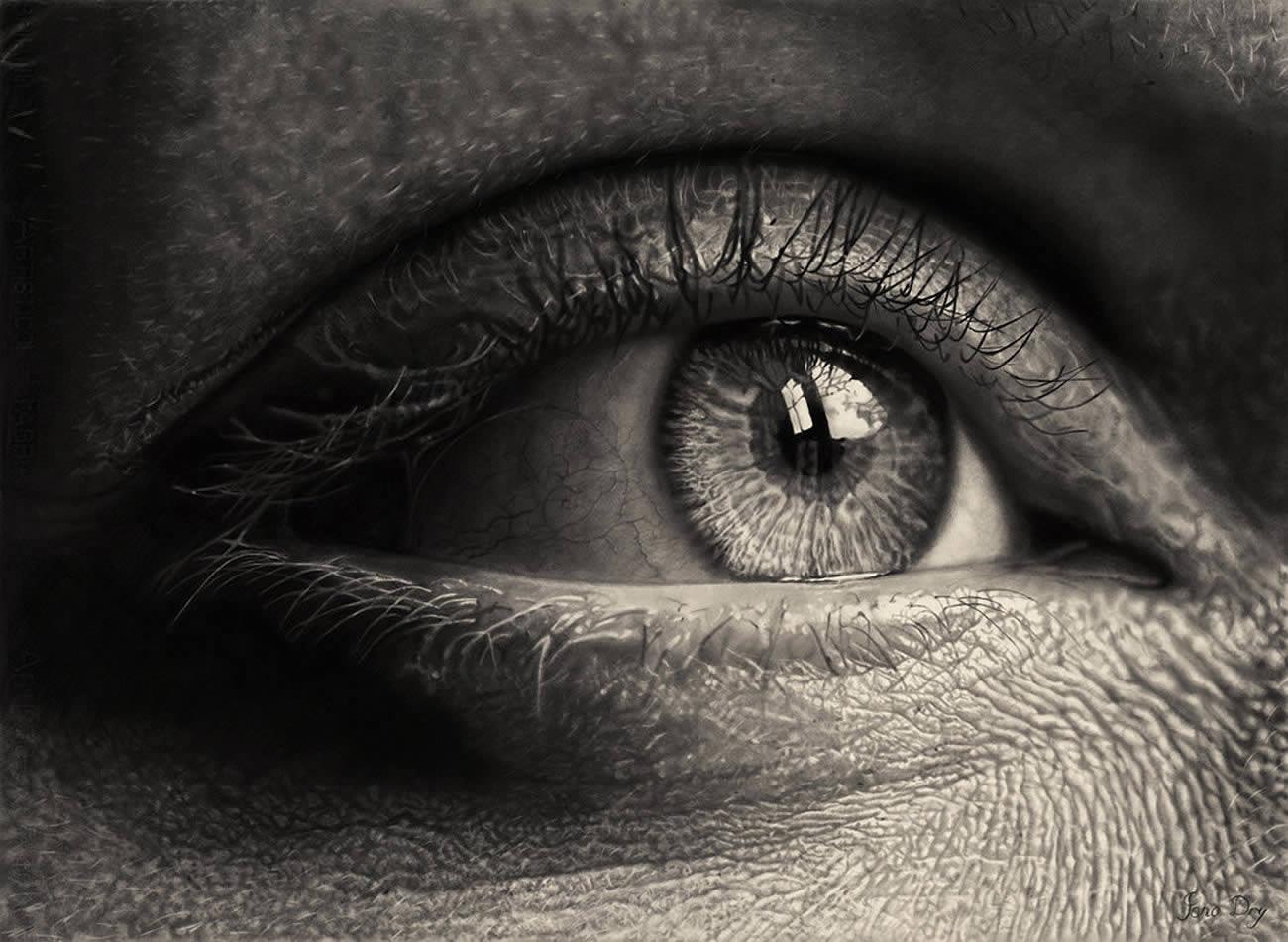 beautiful eye drawing by jono dry