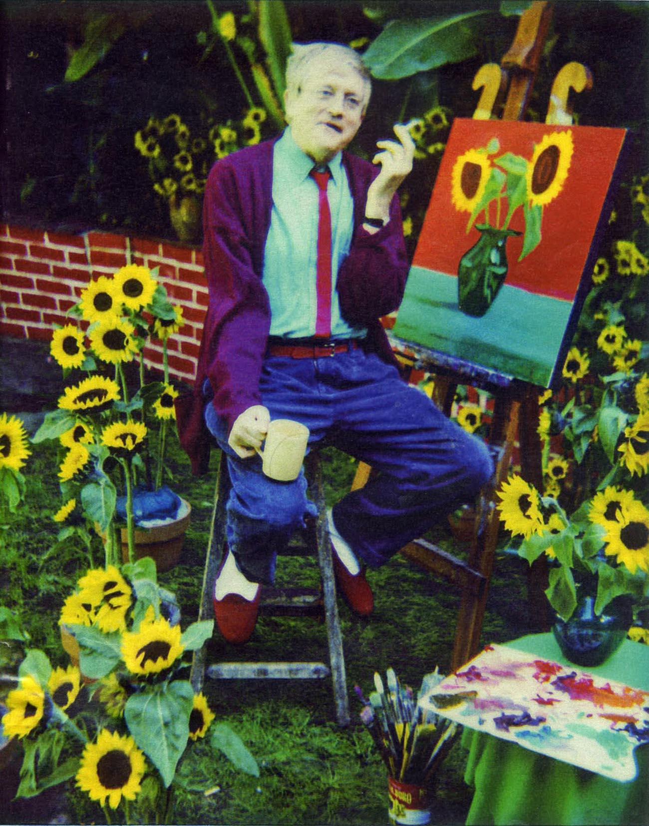 david hockney portrait sunflower