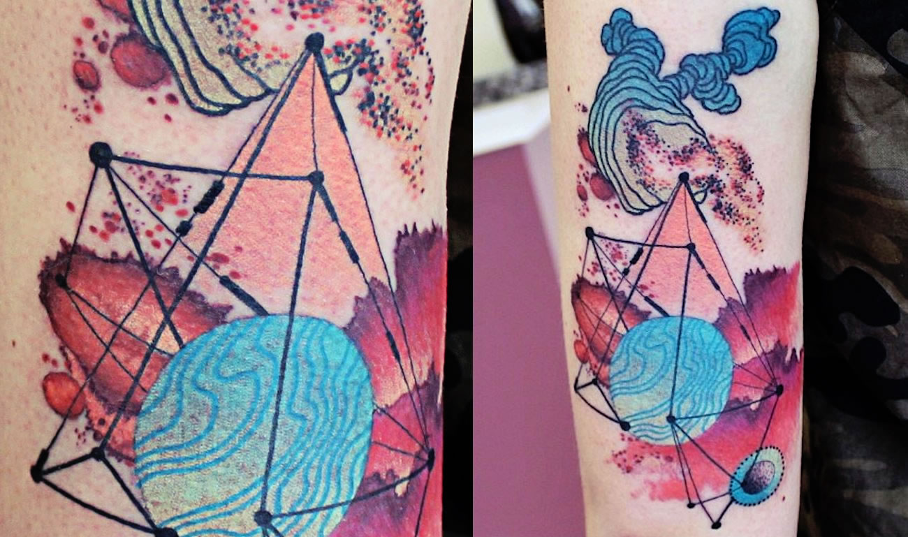 Abstract Constellation tattoo by Cody Eich