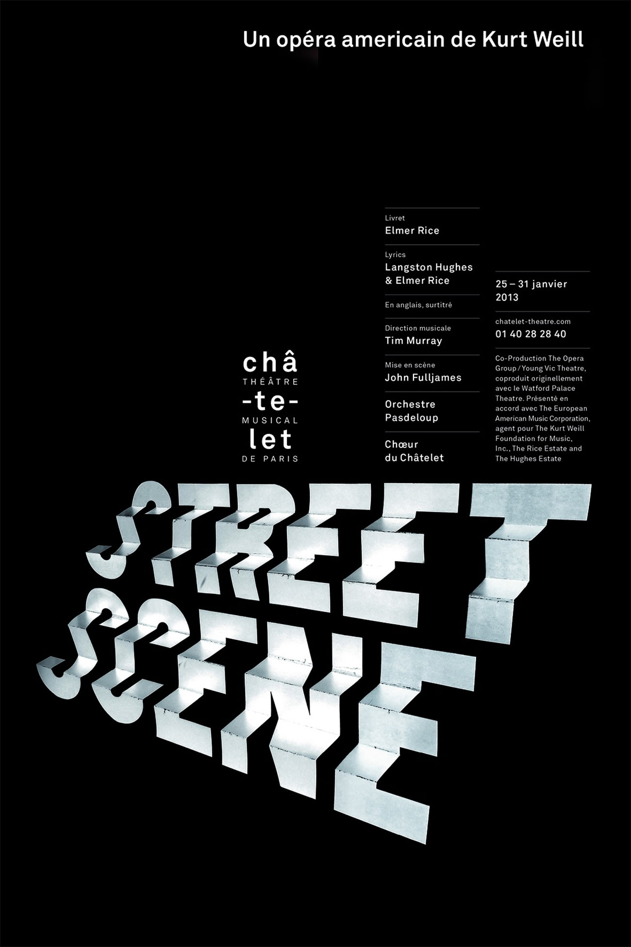 street scene poster with stairs by Philippe Apeloig