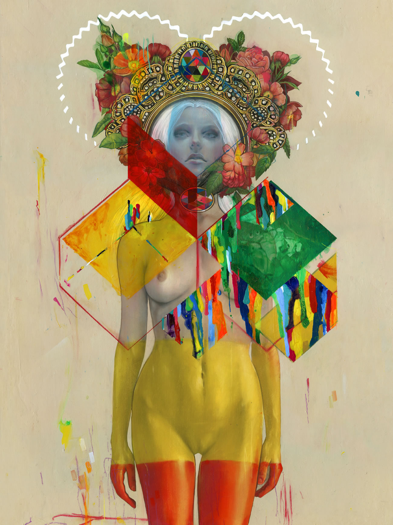 colored woman painting by erik jones