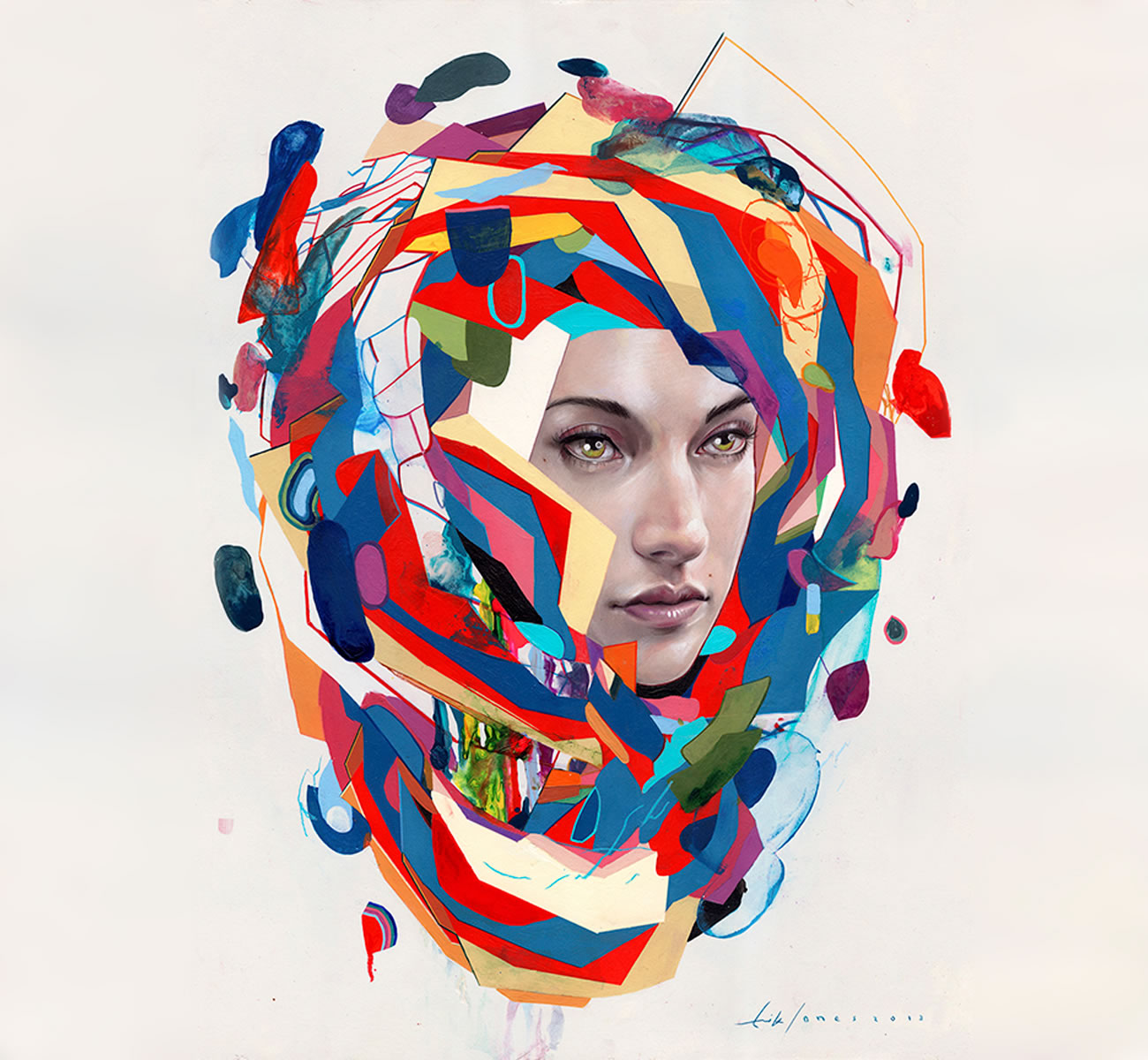 colored blots portrait by erik jones