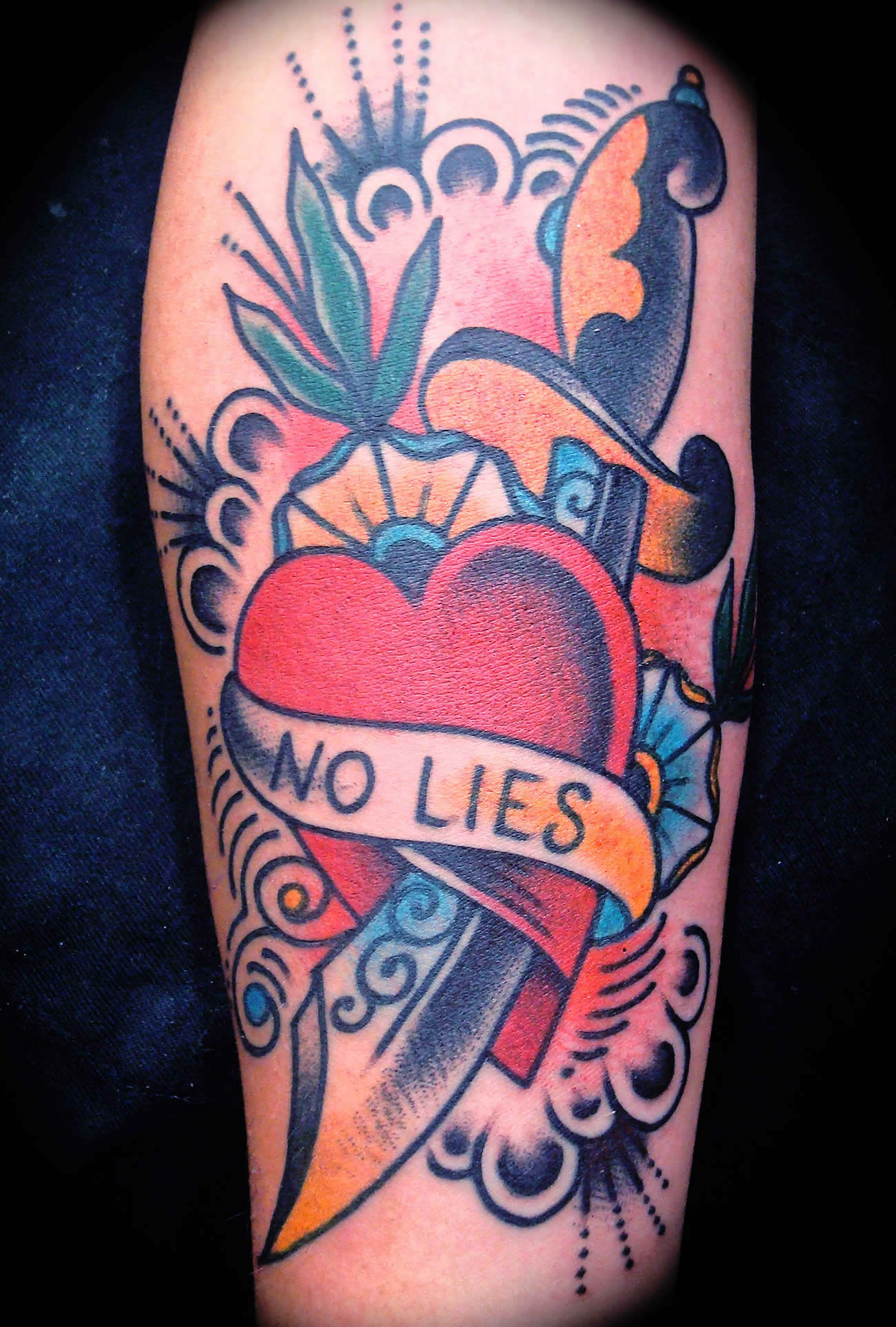 no lies heart tattoo by javier rodriguez