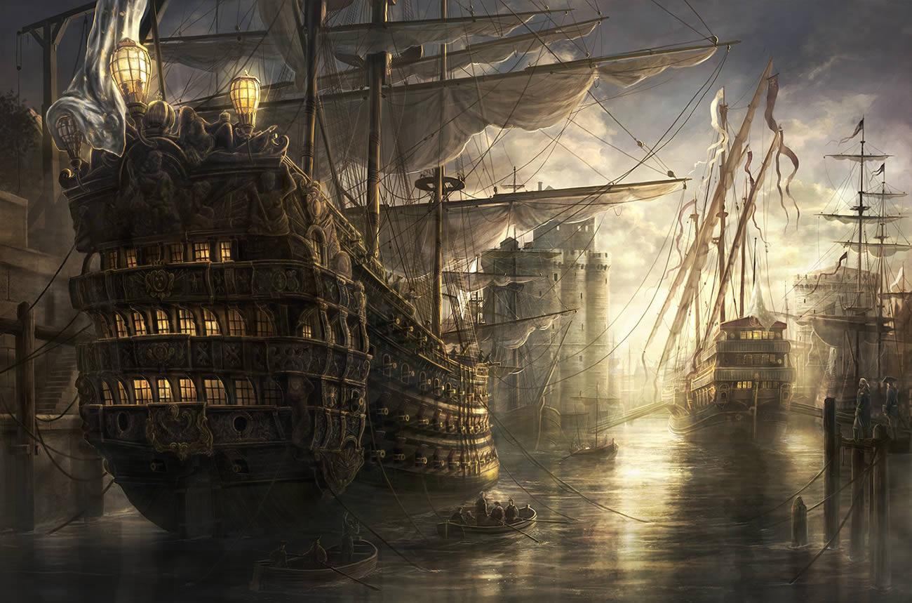 battle ships, digital art by rado javor 5