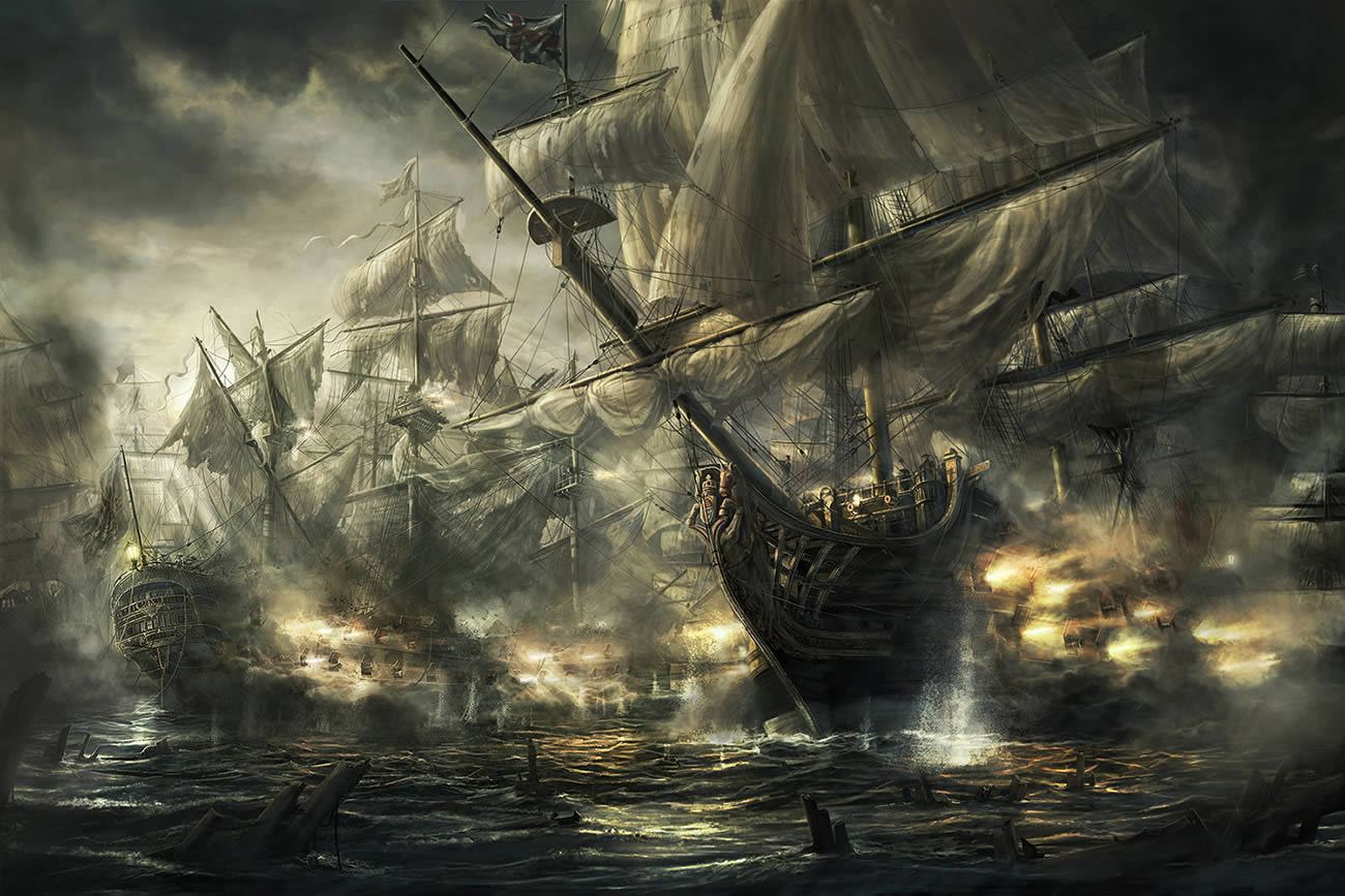 battle ships, digital art by rado javor 6