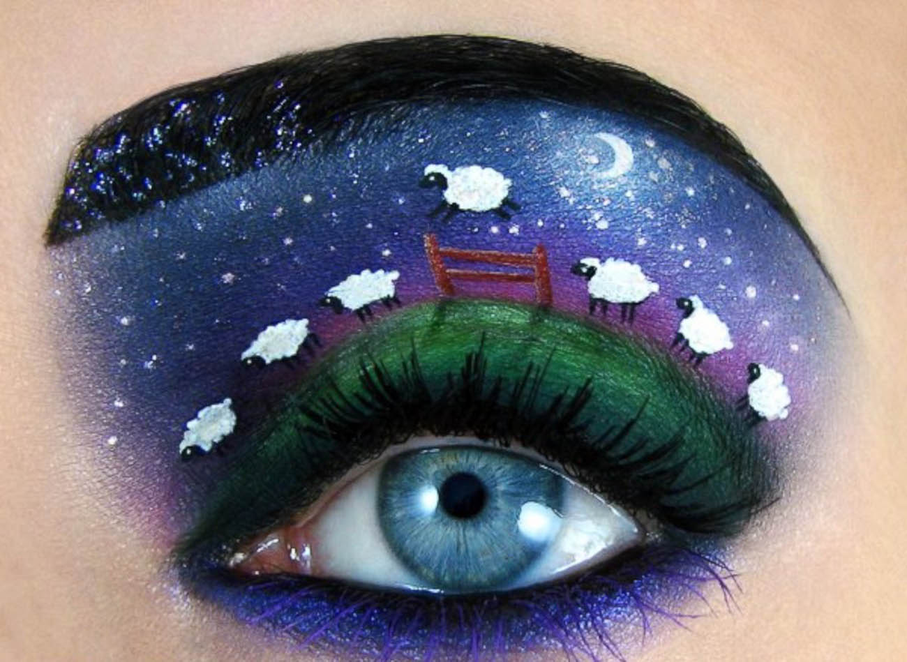 Playful Eye Makeup