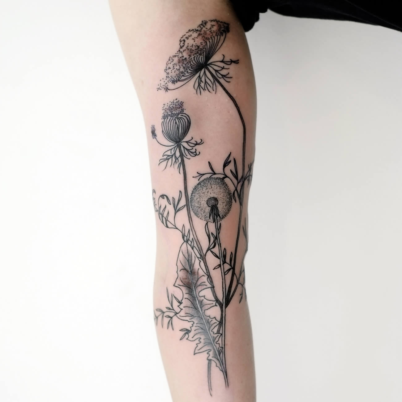 flower on arm by victor j webster