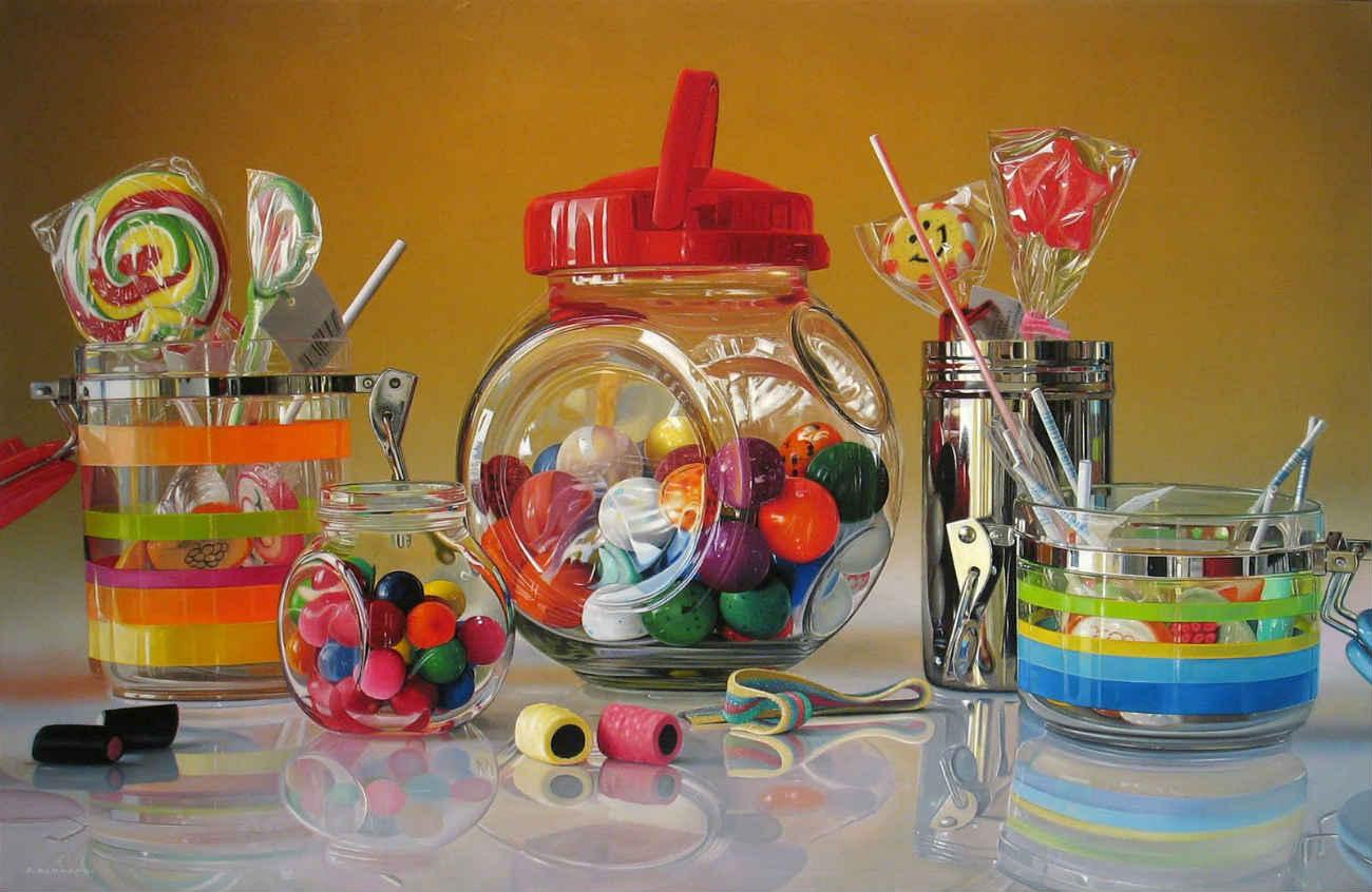 Roberto Bernardi candy photo realist