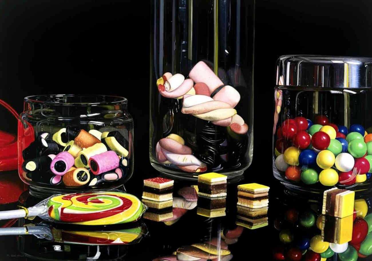 Roberto Bernardi photo realist candy sweets