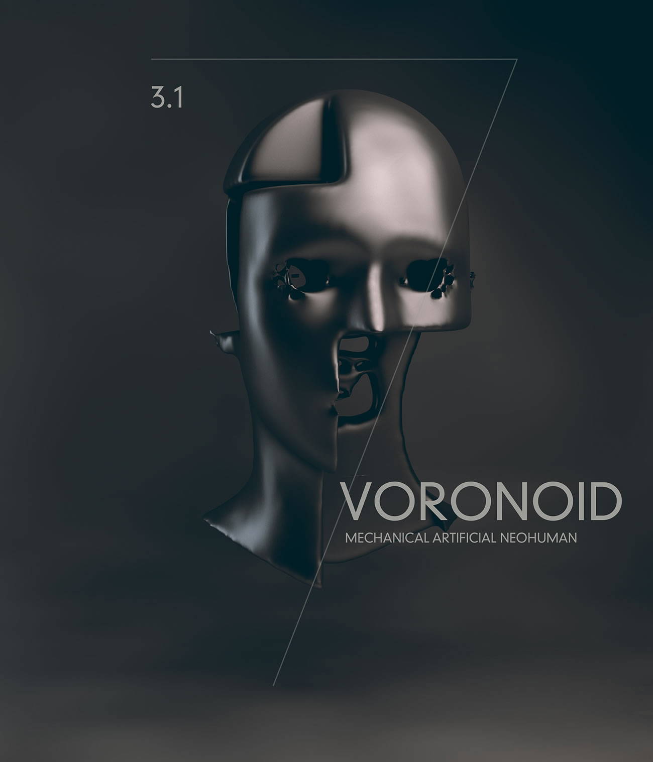 voronoid half face by Voronoid