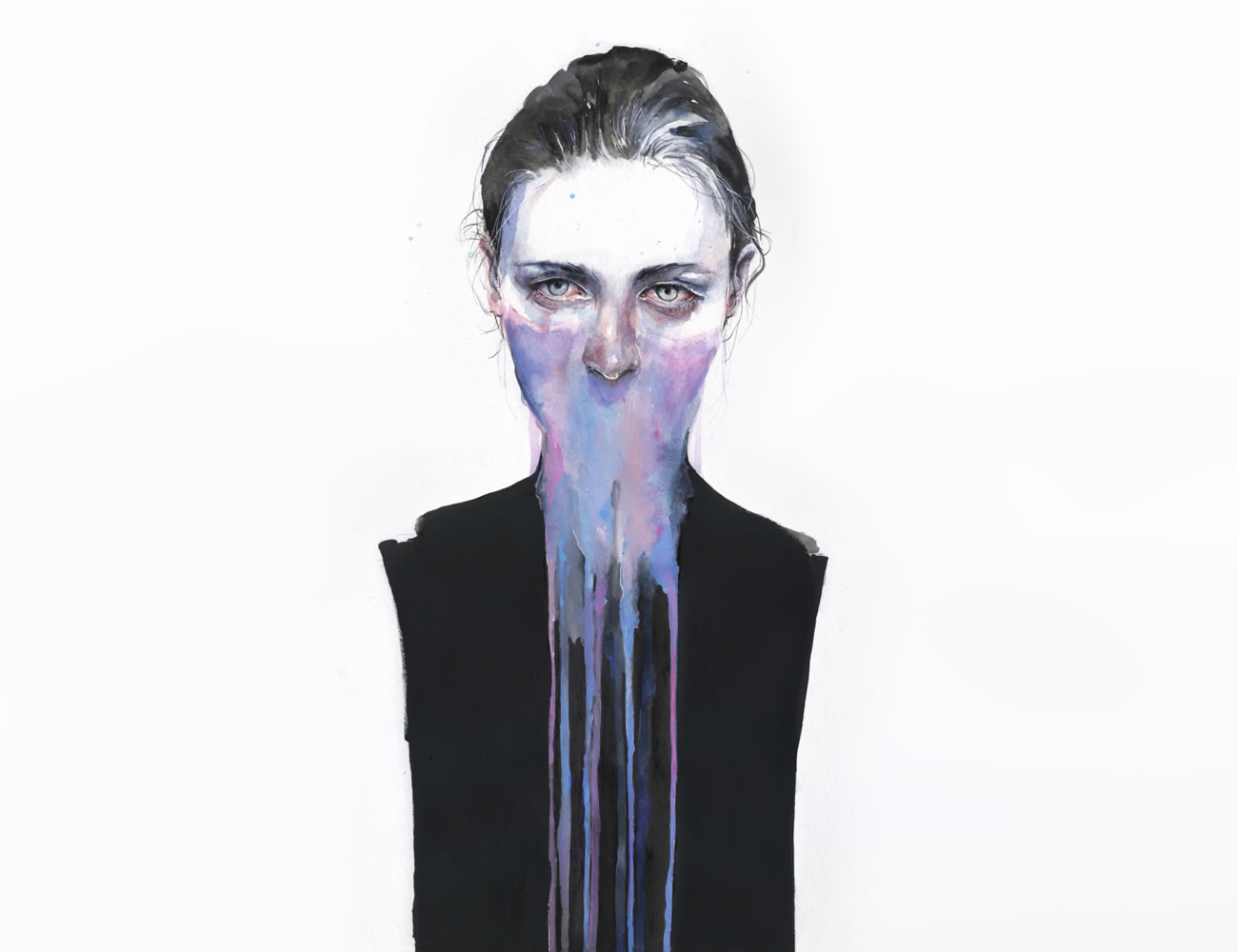 face paint drip, by agnes cecile