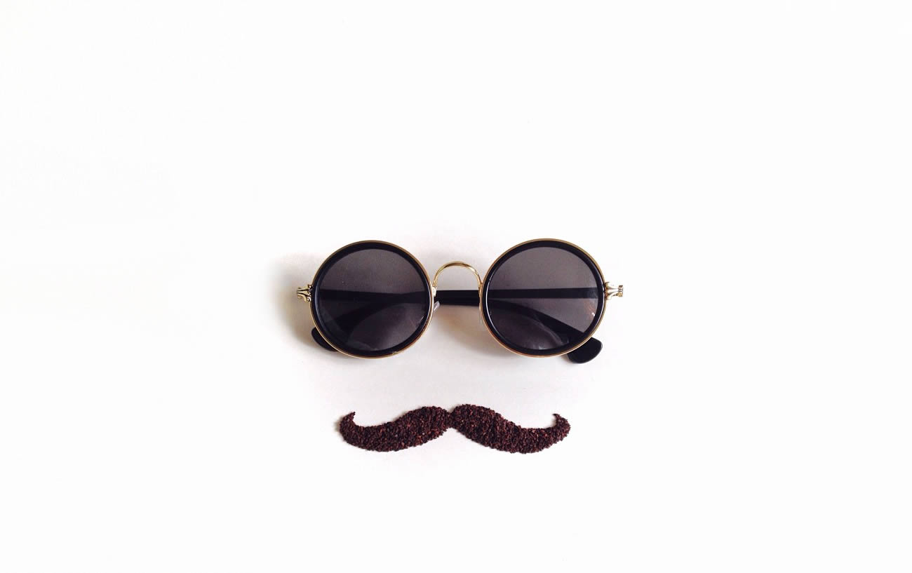 john lennon glasses and mustache by Liv Buranday