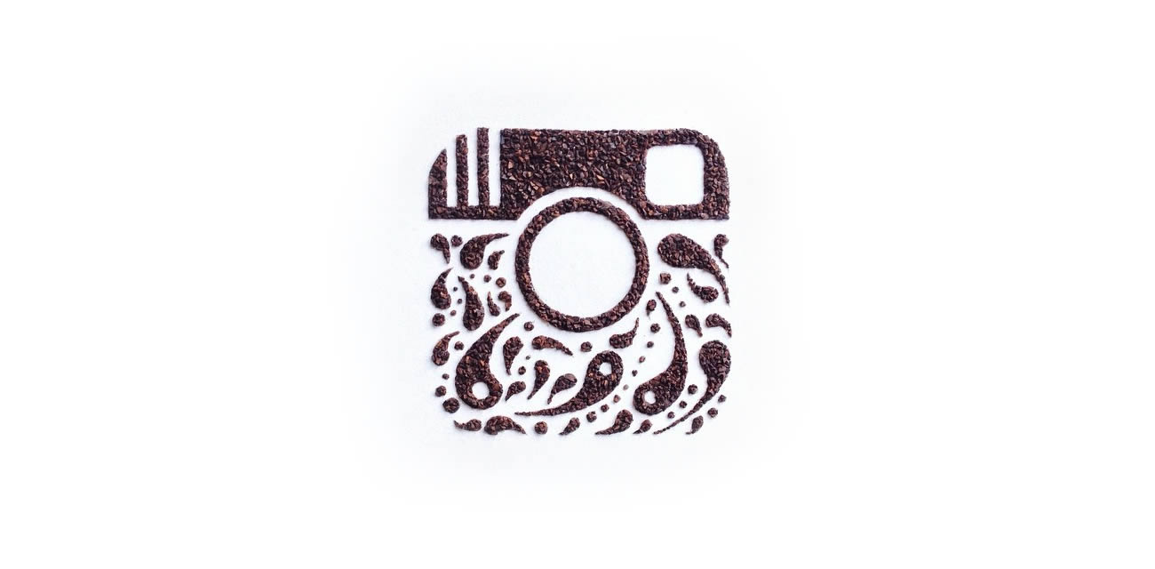 instagram logo camera, coffee art by Liv Buranday